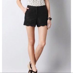 Ann Taylor LOFT Scalloped Shorts